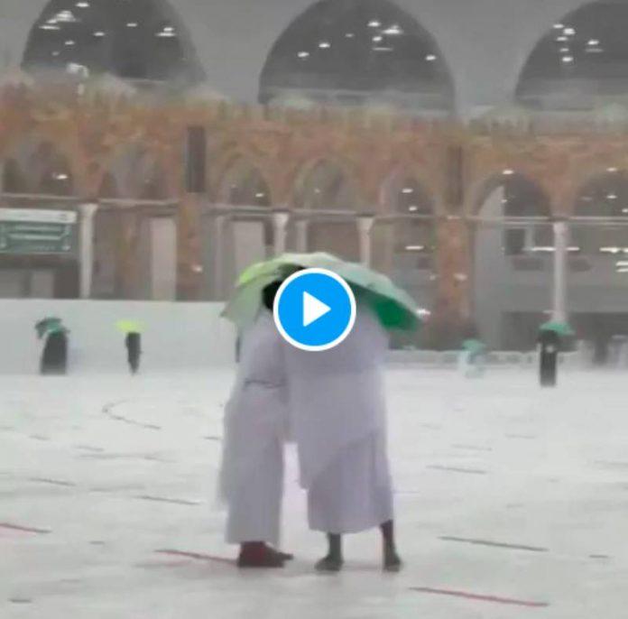 Ramadan une tempête de grêles et des pluies torrentielles s'abattent sur La Mecque - VIDEO