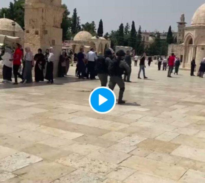 Al-Aqsa Les soldats israéliens attaquent les fidèles pendant la salât joumou'a - VIDEO