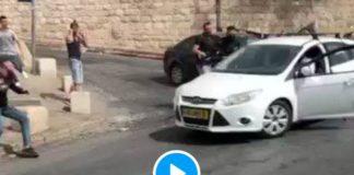 Al-Aqsa un colon israélien fonce avec son véhicule et écrase des Palestiniens à Jérusalem - VIDEO (1)