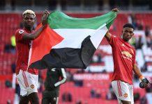 Angleterre - Paul Pogba brandit le drapeau de la Palestine après un match de Premier League - VIDEO