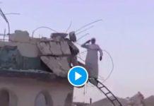 Gaza un muezzin lance l'appel à la prière sur les décombres de sa mosquée - VIDEO