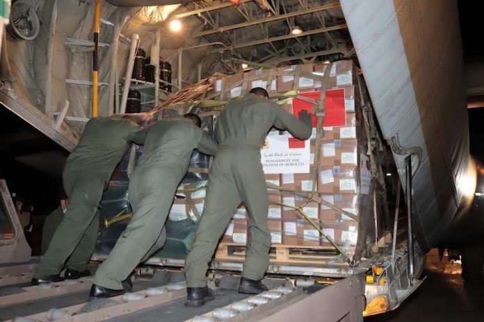 Le Maroc envoie 40 tonnes d'aide humanitaire à la Palestine2