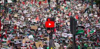 Londres la plus grande mobilisation en solidarité avec les Palestiniens rassemble près de 200 000 personnes - VIDEO