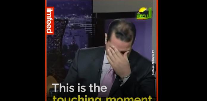 Un présentateur TV s'effondre en larmes devant la Miséricorde d'Allah - VIDEO