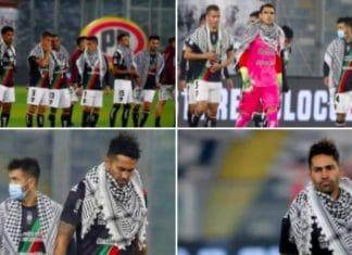 Une équipe de football chilienne porte le keffieh en solidarité avec les Palestiniens