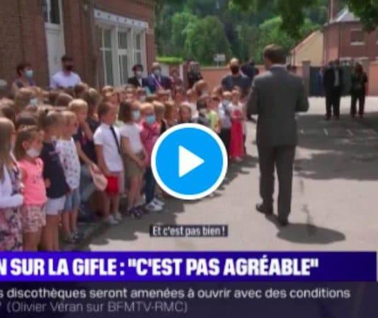 Ça va la claque que tu t'es prise ? un enfant ridiculise Emmanuel Macron - VIDEO