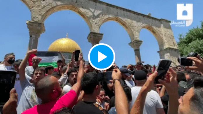Al-Aqsa : Des Palestiniens manifestent contre le meurtre brutal du militant Nizar Banat