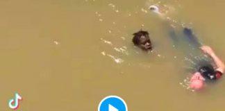 Espagne Muhammad Fadal sauve un homme de 72 ans de la noyade pour la deuxième fois - VIDEO