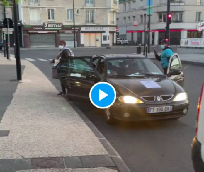 Sartrouville des jeunes mettent à disposition leurs voitures pour déposer des habitants à la gare - VIDEO