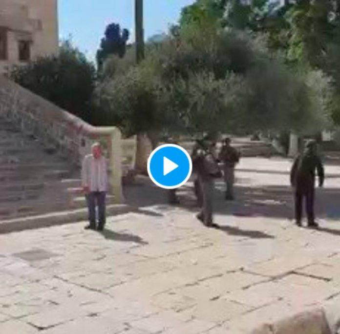 Al-Aqsa : un soldat israélien arrache son tapis à une Palestinienne qui s'apprêtait à faire sa prière - VIDEO | alNas.fr