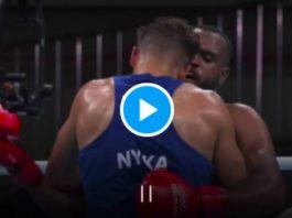 JO Tokyo un boxeur marocain tente de mordre l'oreille de son adversaire - VIDEO2