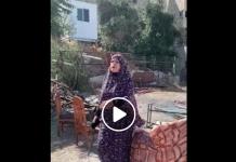 Jérusalem une Palestinienne courageuse expulse un groupe de colons israéliens qui envahissent sa maison - VIDEO