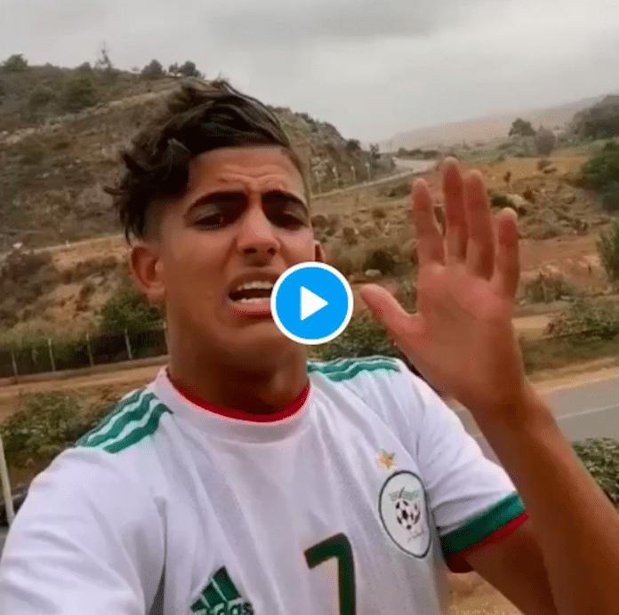 «Vous êtes dans nos coeurs» un jeune marocain envoie un message de fraternité au peuple algérien - VIDEO