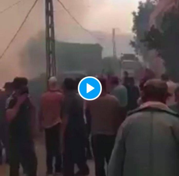 Bejaïa les feux encerclent le village de Tala Hiba, les habitants pris au piège au milieu des flammes - VIDEO