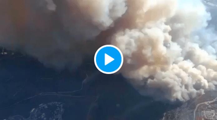 Jérusalem un immense incendie plonge la ville dans un nuage de fumée - VIDEO
