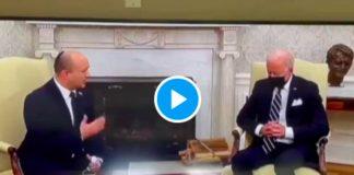 Joe Biden s'endort littéralement pendant son entretien avec le Premier ministre israélien - VIDEO (1)