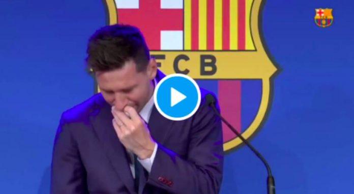 Lionel Messi en larmes en évoquant son « possible » transfert au PSG - VIDEO