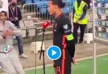 Virgil Van Dijk repousse sèchement un fan pendant une interview - VIDEO