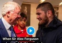 «Si je bois, je vous tabasse tous !» Khabib Nurgomedov refuse un verre de vin d'Alex Ferguson devant Patrice Evra et Usain Bolt - VIDEO (1)