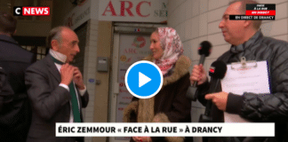 «Enlevez votre cravate, j'enlève mon voile » une femme se dévoile devant Eric Zemmour - VIDEO