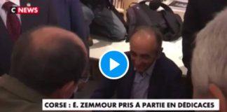 On est chez nous ! Eric Zemmour chassé par les Corses en pleine séance de dédicaces - VIDEO